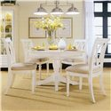 American Drew Camden - Light Round Table with Butterfly Leaf - Round Table Featured with Chairs