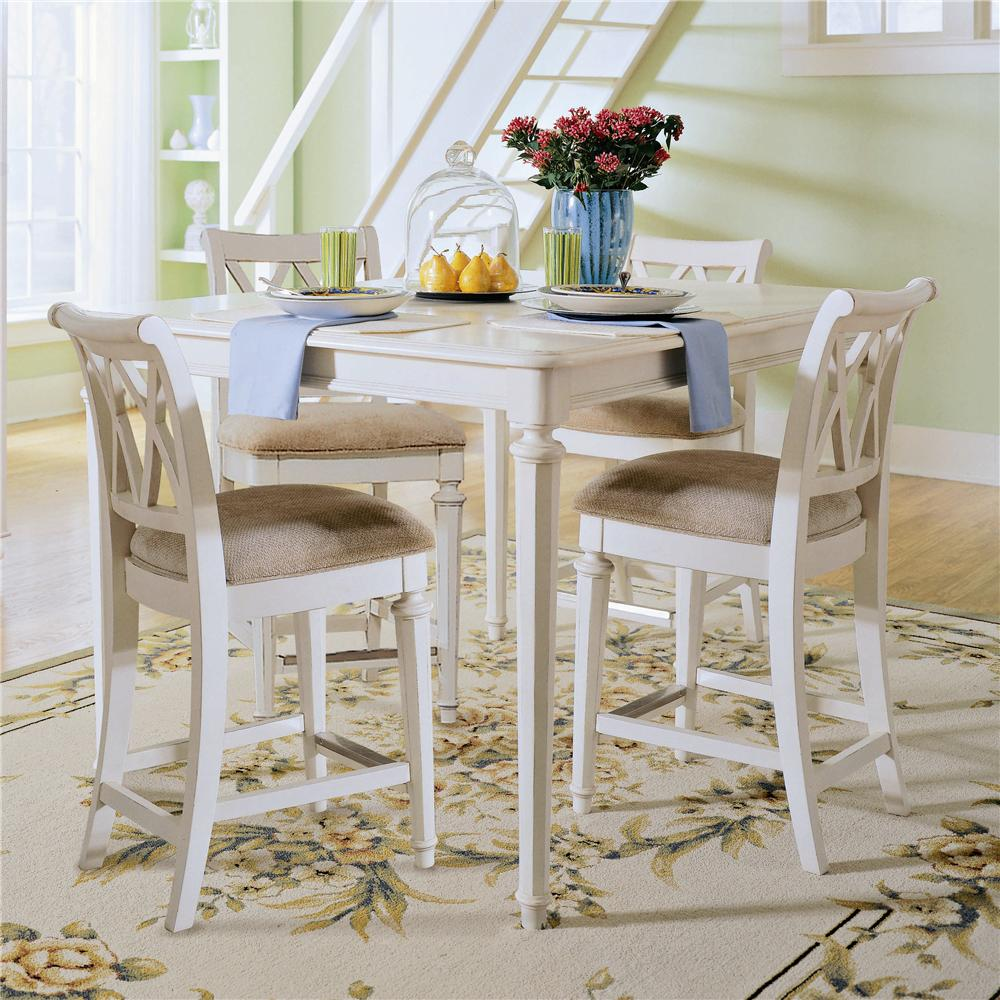 American Drew Camden - Light Gathering Table with Splat Back Chairs - Item Number: 920-705+4x690