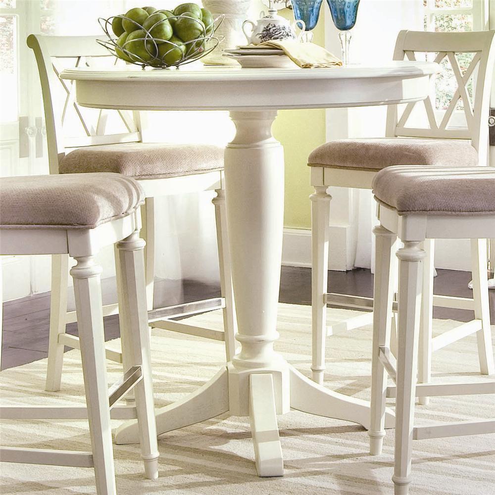 American Drew Camden - Light Bar Height Pedestal Table - Item Number: 920-706R Bar Height