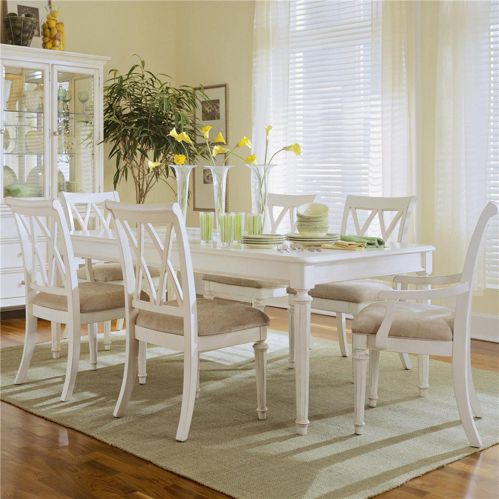 Furniture Of America Dubelle 7 Piece Formal Dining Set: Light Rectangular Dining Set With