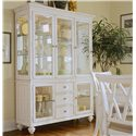 American Drew Camden - Light China Buffet/Credenza with 2 Glass Doors - Buffet Shown with China Deck