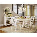 American Drew Camden - Light Server w/ Wine Rack and Round Mirror - 920-890+015 - Server and Mirror Set Shown with Table and Chairs