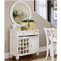 American Drew Camden - Light Server with Wine Storage and Silver Tray - 920-890 - Server Shown with Round Mirror