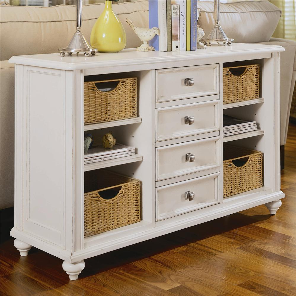 American Drew Camden Light Console Table With 4 Drawers