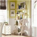 American Drew Camden - Light Wall Storage with Five Shelves - Side Profile of Bookcase