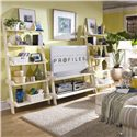American Drew Camden - Light Wall Storage with Five Shelves - Bookcase Shown in Bedroom
