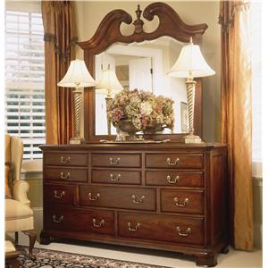 Landscape Mirror and Triple Dresser