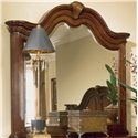 American Drew Cherry Grove 45th Triple Door Dresser and Landscape Mirror Combination