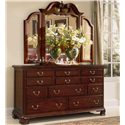 American Drew Cherry Grove 45th Triple Dresser and Trifold Mirror Combination - 790-070+130