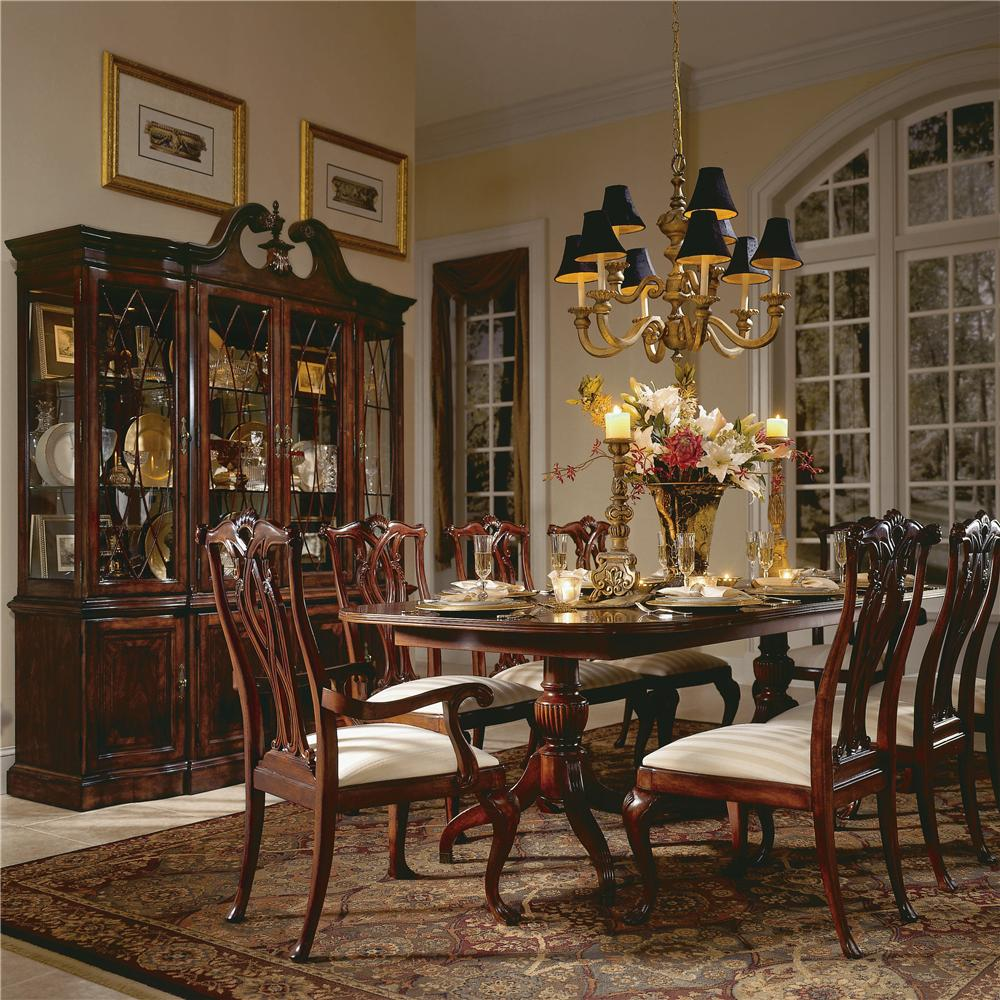 American Drew Dining Room Furniture: American Drew Cherry Grove 45th 9 Piece Double Pedestal