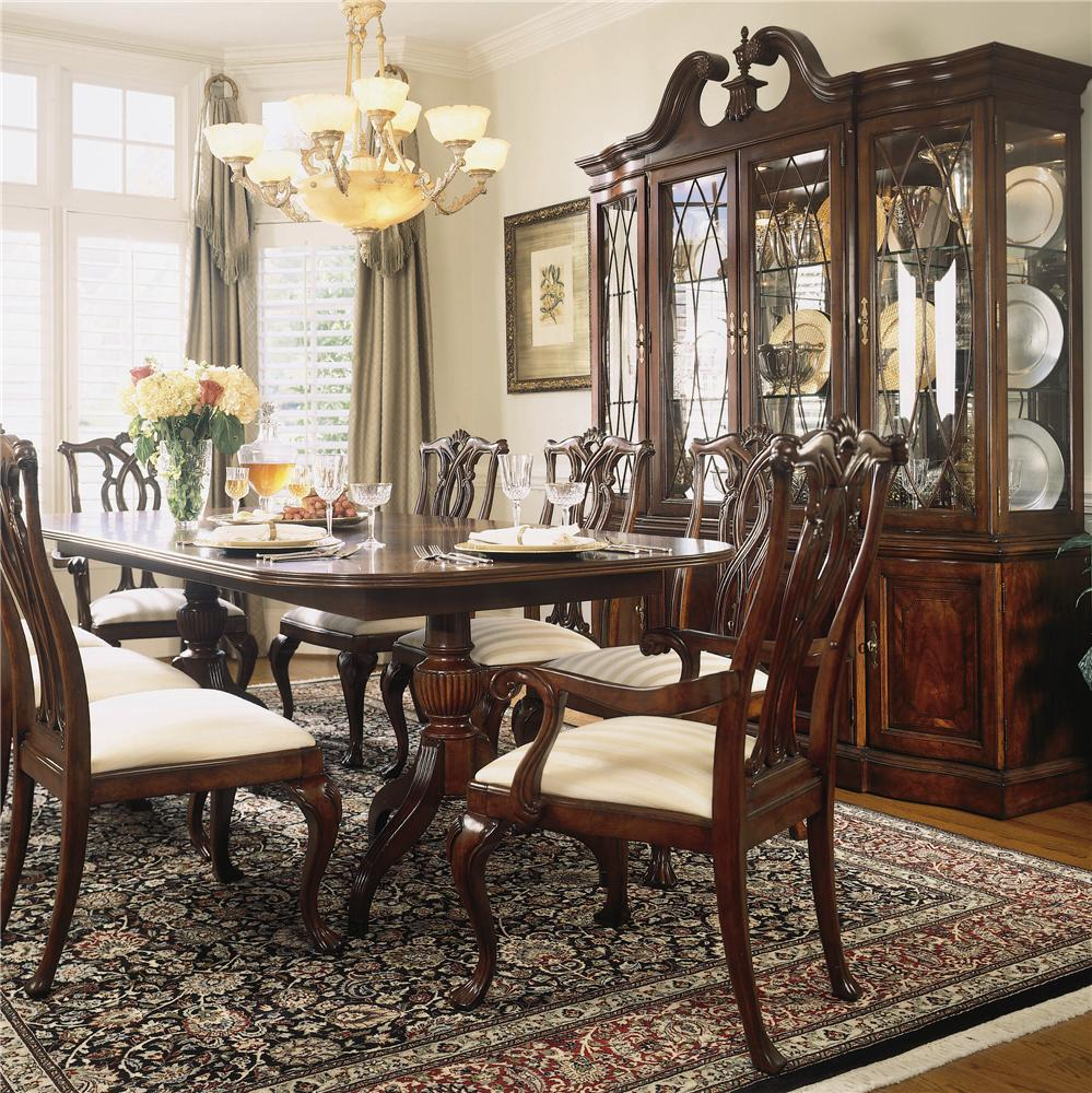 American Drew Cherry Grove 45th Traditional Oval Dining: American Drew Cherry Grove 45th 9 Piece Double Pedestal