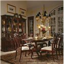 American Drew Cherry Grove 45th 9 Piece Dining Set - Item Number: 790-744R+2x655+6x654