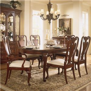 Living Trends Cherry Grove 45th Oval Leg Table Dining Set
