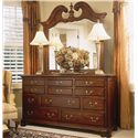 American Drew Cherry Grove 45th Traditional Landscape Mirror - Shown with Triple Dresser