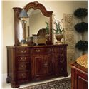 American Drew Cherry Grove 45th Beveled Landscape Mirror - Shown with Triple Door Dresser