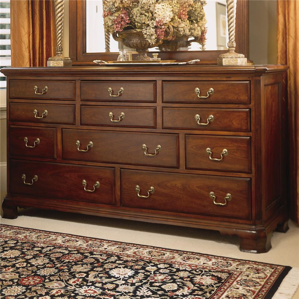 Good American Drew Cherry Grove 45th Triple Dresser With 11 Drawers   AHFA    Dresser Dealer Locator