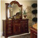 American Drew Cherry Grove 45th Door Triple Dresser - Shown with Landscape Mirror