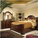 American Drew Cherry Grove 45th Door Triple Dresser - Shown with Mansion Bed and Landscape Mirror