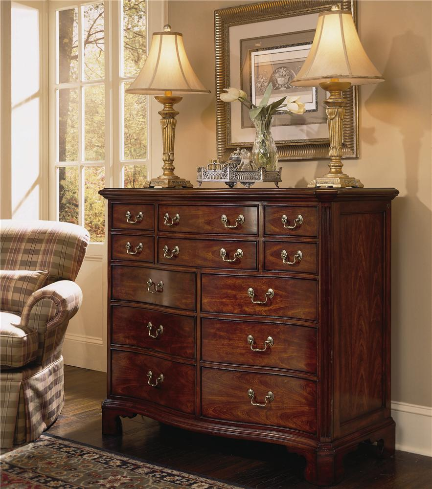 American Drew Cherry Grove 45th Traditional Oval Dining: American Drew Cherry Grove 45th 791-220 12 Drawer Dressing