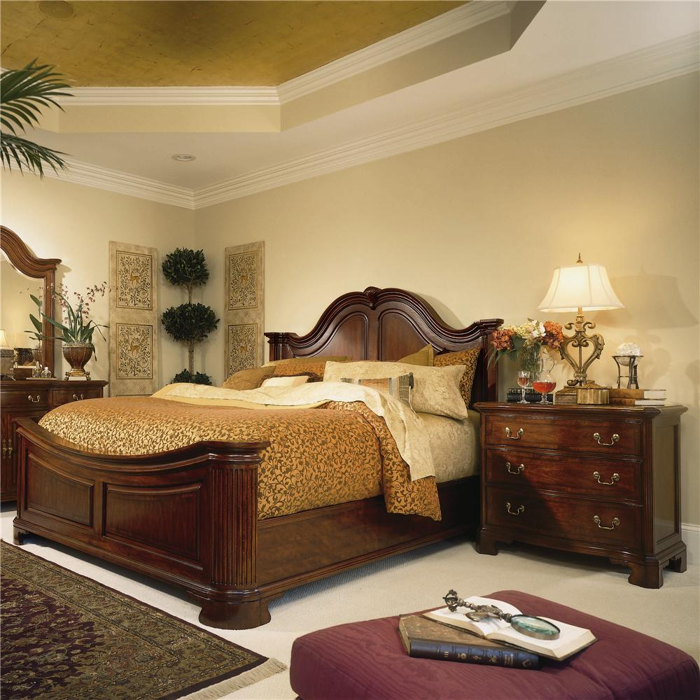 Cherry Grove Th King Traditional Mansion Bed By American Drew