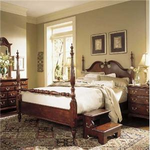 American Drew Cherry Grove 45th Queen Low Poster Bed