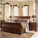 American Drew Cherry Grove 45th 3 Drawer Night Stand - Shown with Sleigh Bed