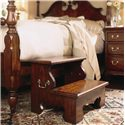 American Drew Cherry Grove 45th Traditional Two Step Bed Stool  - Shown with Pedestal Poster Bed