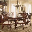 American Drew Cherry Grove 45th Traditional Splat Back Arm Chair - Shown with Splat Back Side Chair and Oval Leg Table