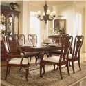 American Drew Cherry Grove 45th Traditional Oval Dining Table - Pictured with Splat Back Arm and Side Chairs