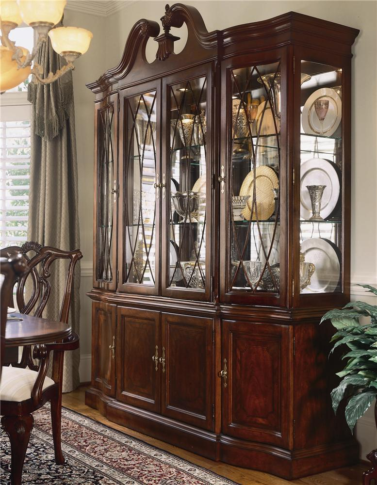 American Drew Cherry Grove 45th China Cabinet With Breakfront Doors   AHFA    China Cabinet Dealer Locator