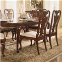 American Drew Cherry Grove 45th Traditional Dining Server - Shown with Oval Leg Table and Splat Back Arm and Side Chairs