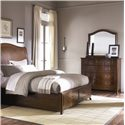 American Drew Cherry Grove Triple Dresser with Arched Mirror - 091-130+020