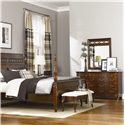 American Drew Cherry Grove Triple Dresser with Decorative Fret Mirror - 091-130+041