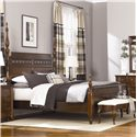 American Drew Cherry Grove Queen Poster Bed with Carved Detail - 091-324R