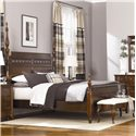 American Drew Cherry Grove King Poster Bed with Carved Detail