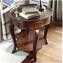 American Drew Cherry Grove Oval End Table with Wood Top - 091-916