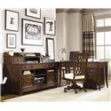 American Drew Cherry Grove Home Office Desk with Drop Down Keyboard Tray - 091-941 - Shown With the Full Home Office Suite