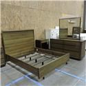 American Drew Clearance Queen Bed, Dresser, Mirror, and Nightstand - Item Number: pkg600313