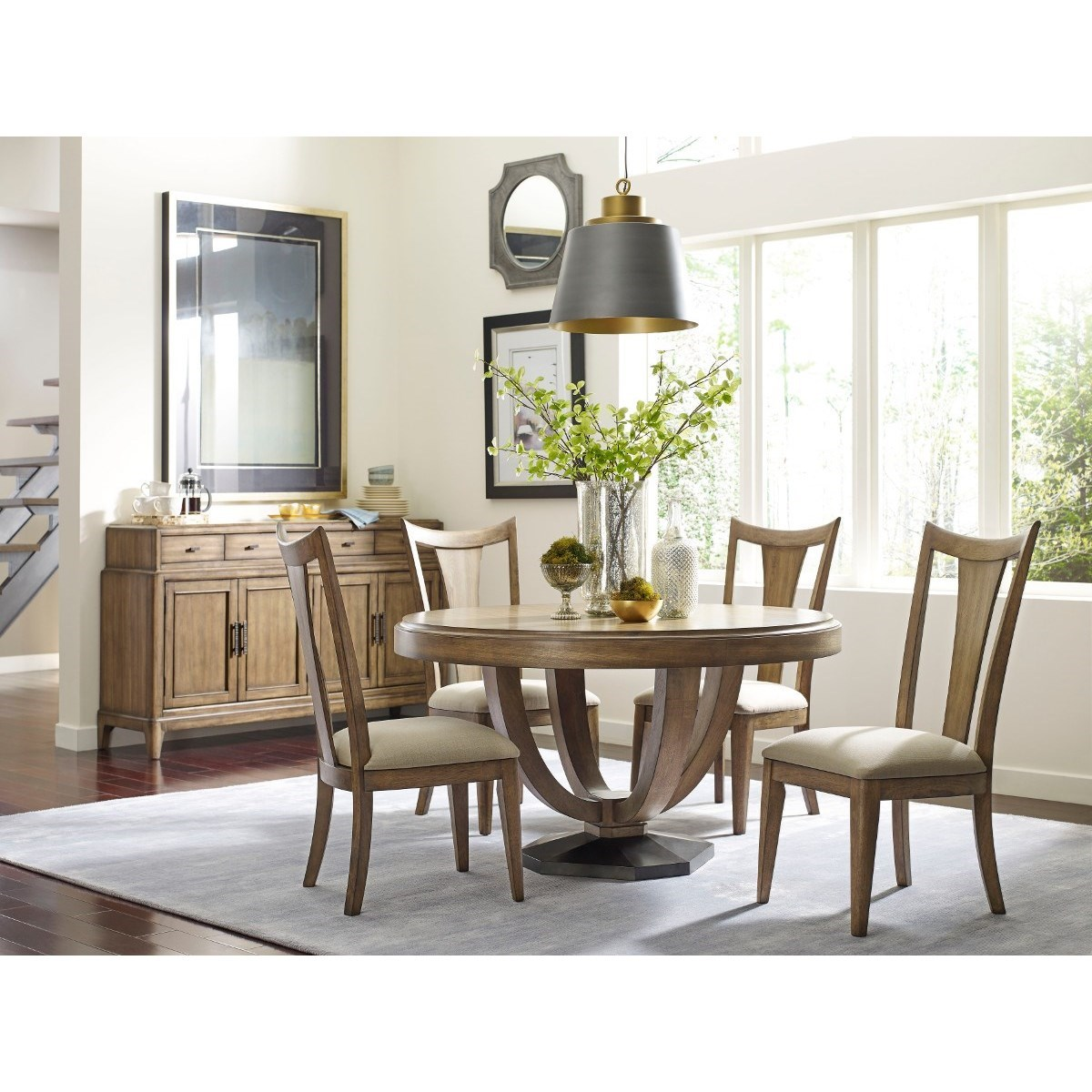American drew evoke casual dining room group wayside for Casual dining furniture