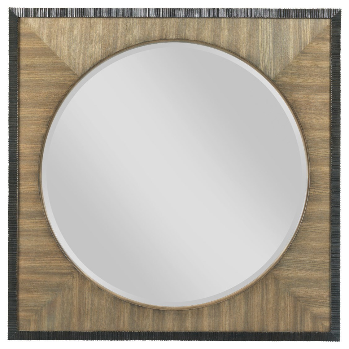 American Drew EVOKE  Round Mirror with Square Frame - Item Number: 509-020