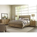 American Drew EVOKE  King Upholstered Sheltered Bed