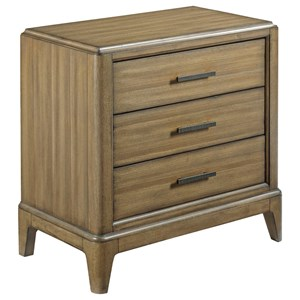 American Drew EVOKE  Nightstand with 3 Soft-Close Drawers