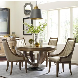 American Drew EVOKE  5 Piece Table and Upholstered Chair Set
