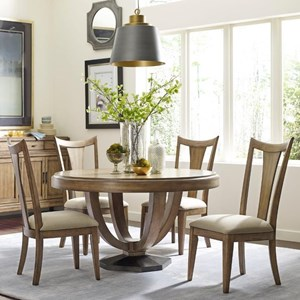 American Drew EVOKE  5 Piece Table & Splat Back Chair Set