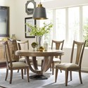 American Drew EVOKE  5 Piece Table & Splat Back Chair Set - Item Number: 509-701R+4x636