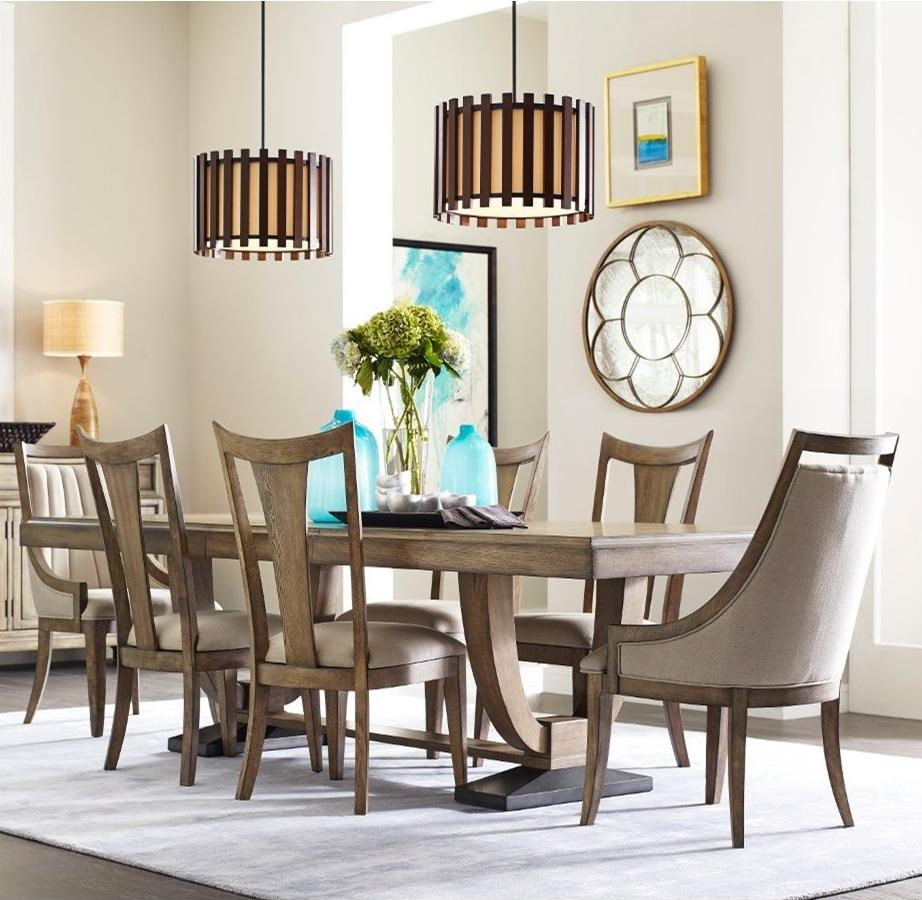 American Drew EVOKE  7 Piece Table & Chair Set - Item Number: 509-760R+2x622+4x636