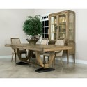 American Drew EVOKE  Trestle Dining Table with Metal base