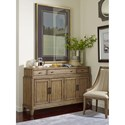 American Drew EVOKE  Sideboard with Stone Top and Adjustable Shelves
