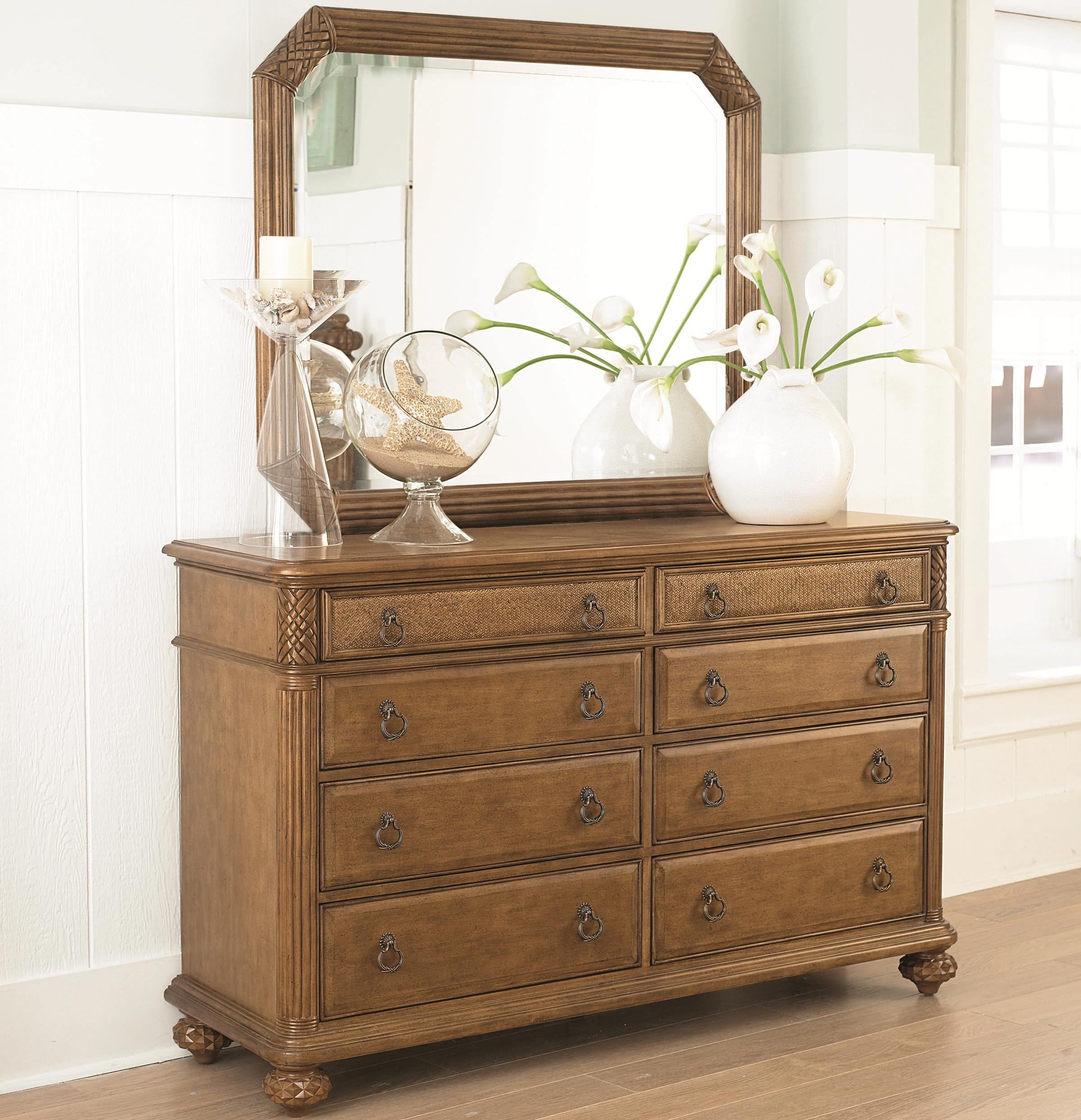 American Drew Grand Isle Dresser & Mirror - Item Number: 079-220+050