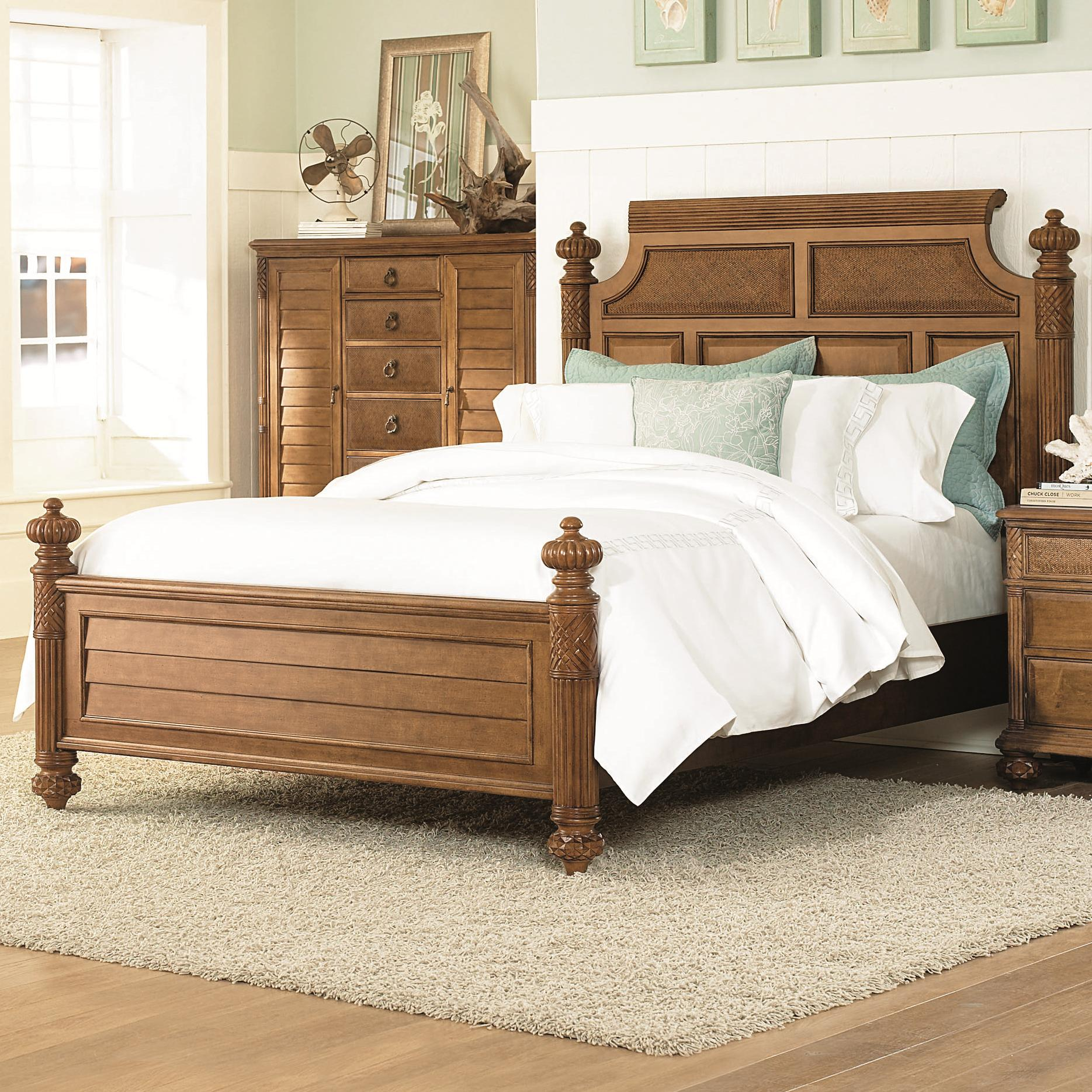 American Drew Grand Isle King Island Bed - Item Number: 079-316R